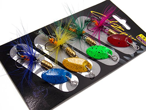 4pcs 1/8oz inline spinner baits with colorful blades (In Blades Spinner Line)