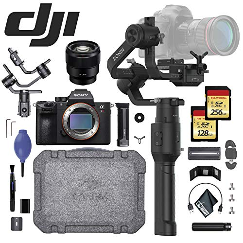 DJI Ronin Essentials Kit w/Sony Alpha a7R + Sony FE 85mm f/1.8 Lens - 256GB + 128GB SD Memory Card - Card Reader and More