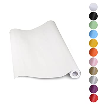 KINLO Aufkleber Küchenschränke Weiß 61x500cm Aus Hochwertigem PVC Tapeten  Küche Klebefolie Möbel Wasserfest Aufkleber Für Schrank