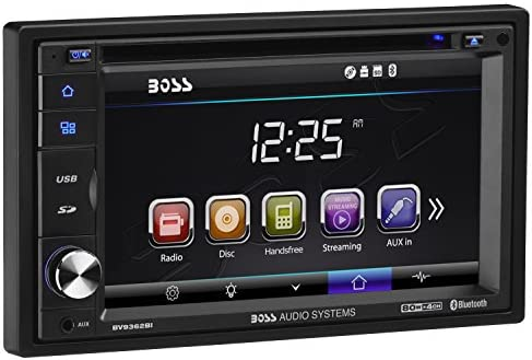 BOSS Audio BV9362BI Car DVD Player – Double Din, Bluetooth Audio and  Calling, 6 2 Inch LCD Touchscreen Monitor, MP3 Player, CD, DVD, WMA, USB,  SD,