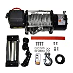 Micropower 17,000 lbs Recovery Winch Combo Kit Electric 12V ATV UTV Snow Boat Trailer Truck SUV Jeep Plow Off Road