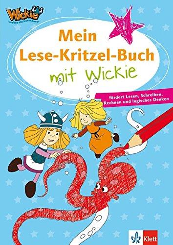 Wickie und die starken Männer: Mein Lese-Kritzel-Buch mit Wickie - fördert Lesen, Schreiben, Rechnen und logisches Denken