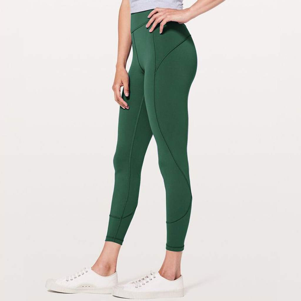 Hue Capri Leggings for Women, Fitness Leggings for Women High Waist Grey,Women's High Waist Solid Yoga Pants Workout Running Sports Leggings Pants by Makeupstory (Image #2)