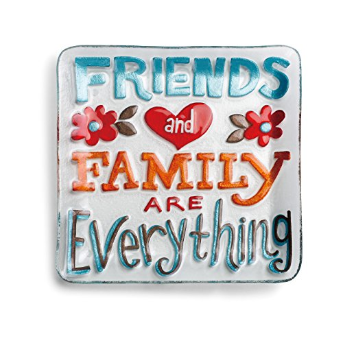(Demdaco Friends and Family Square Plate, Multicolor)