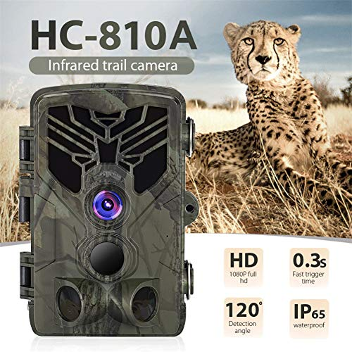 NJYHI HC-810A Hunting Camera Scouting Trail Camera Wildview 1080P 16MP HD PIR Motion Night Vision Camera