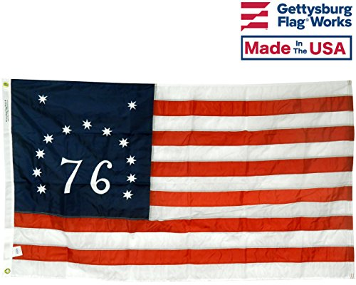 3×5′ Bennington 76 Flag, Embroidered Stars and Numbers, All-Weather Outdoor Nylon, Made in USA Review