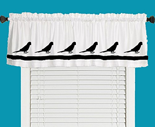 Conure Bird Parrot Window Valance Window Treatment – In Your Choice of Colors – Custom Made