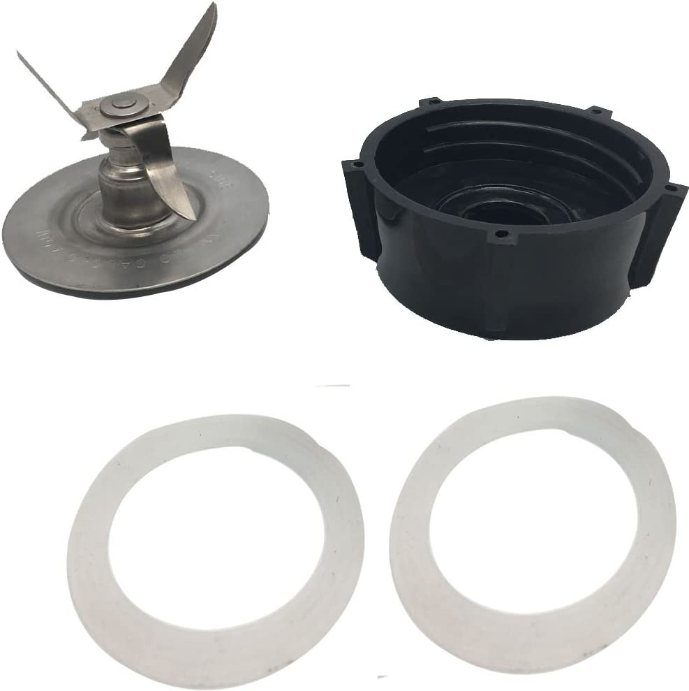 JOYSTAR Ice Crusher Blade with Replacement Jar Base Cap, 2 Rubber O Ring Sealing Ring Gaskets Combo,Fits Oster 4961 blender blade,Oster 4961 Ice Crusher Blade,oster blender blade replacement parts