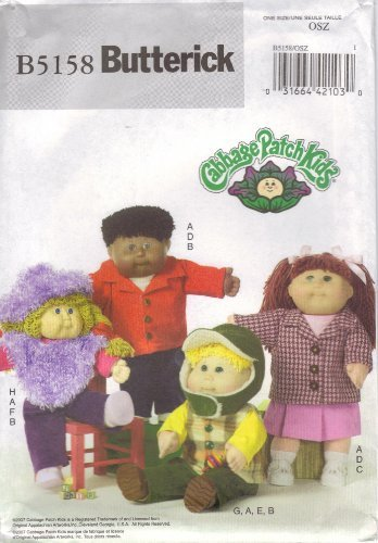 Butterick 5158 Sewing Pattern Cabbage Patch Kids Design Clothes
