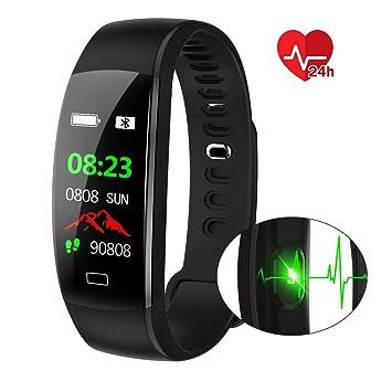 Pulsera Actividad Deportiva,IP68 Impermeable Fitness Tracker con Monitor de Ritmo Cardíaco, Sueño,