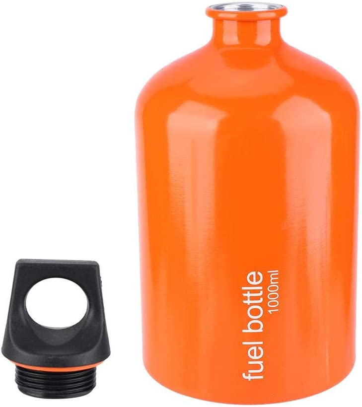 Demeras Fuel Storage Bottle Aluminium Alloy 1000ML Portable Gas Stove Tank Oil Containers Fuel Storage for Outdoor Camping Hiking