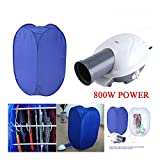 Portable Electric Clothes Dryer Heater Drying Rack Wardrobe Machine W/Air Pump