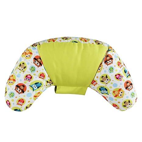 Emorias 1 Pcs Almohada de Cuello Cinturon de Seguridad Portátil Coche Cojin Soporte de Cervical Niños y Adultos Viajes Accesorios - Amarillo