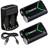Smatree Rechargeable NI-MH Battery 2000mAH (2-Pack) +Dual-Channel Charger for Xbox One / Xbox One S / Xbox One X Wireless Controller