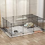 Shan-s Metal Pet Playpen Dog Kennel Pets Fence Exercise Cage 16 Panels Metal Wire Storage Cubes Organizer Indoor Out Door Animal Yard Fence for Rabbit, Guinea Pigs, Puppy,Ferret,Bunny
