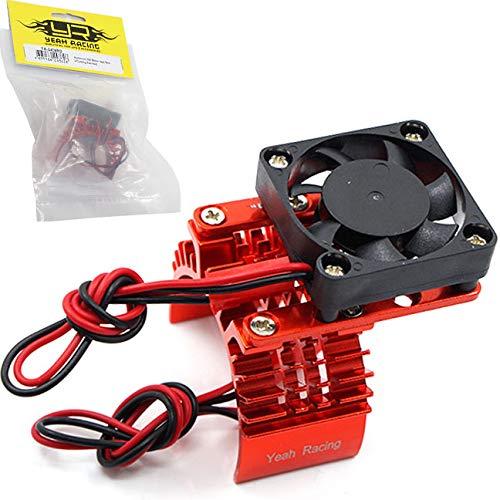 (Yeah Racing Aluminum 540 Motor Heat Sink w/ Cooling Fan Red)
