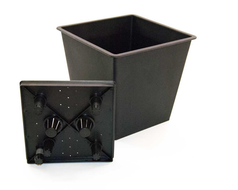 Pflanzk/übel Blumenk/übel Blumentopf Polyrattan Quadrat LxBxH 50x50x50cm Coffee braun