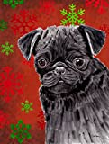 Cheap Caroline's Treasures SC9406CHF Pug Red and Green Snowflakes Holiday Christmas Flag Canvas, Large, Multicolor
