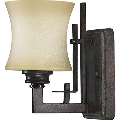- Quorum Prairie 1 Light Wall Light in Toasted Sienna