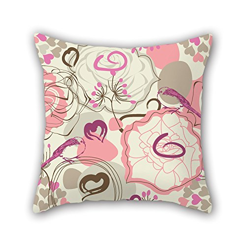 NICEPLW Flower Pillow Covers ,best For Chair,kids,valentine,outdoor,drawing Room,bar 18 X 18 Inches / 45 By 45 Cm(twice Sides) (Flower Shifter Knobs)