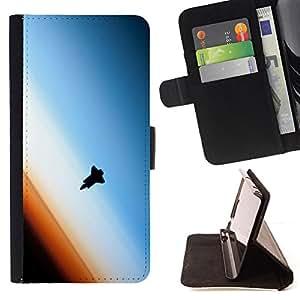 - ATMOSPHERE ART SPACE EARTH ORBIT SHUTTLE - - Prima caja de la PU billetera de cuero con ranuras para tarjetas, efectivo desmontable correa para l Funny HouseFOR Samsung Galaxy S4 IV I9500