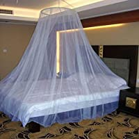 Neruti Enterprise Nylon Adults Double Bed (Round-Canopy) Mosquito Net(Blue)