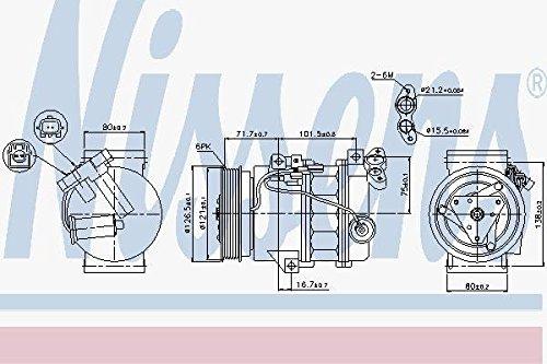 NISSENS 89386 Kompressor Klimaanlage