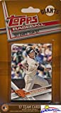 San Francisco Giants 2017 Topps Baseball EXCLUSIVE Special Limited Edition 17 Card Complete Team Set with Buster Posey,Madison Bumgarner & Many More Stars & Rookies! Shipped in Bubble Mailer! WOWZZER!