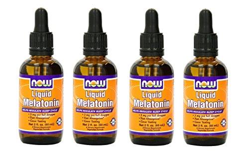 Now Foods Liquid Melatonin bottles
