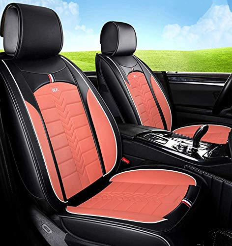 Tcbz Easy To Clean PU Leather Car Seat Cushions 5 Seats Full Set - Anti-Slip Suede Backing Universal Fit Car Seat Covers for Both Fabric And Leather Car Seats,Purple,Pink: Amazon.co.uk: Sports & Outdoors