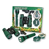 Carson Adventure Pak Containing 5x30 Binocular, Lensatic Compass, Flashlight and Whistle/Thermometer