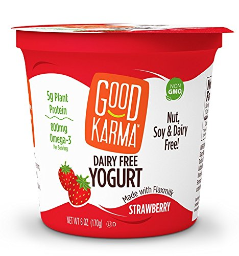 Good Karma Dairy Free Yogurt, Strawberry, 5.52 Ounce (Pack of 12) (Yogurt Strawberry Free)