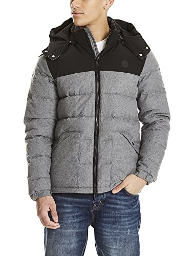 Ma1017 Wool Hombre Gris Down Look Bench Puffer Marl Chaqueta para Anthracite awqvgaSxRd