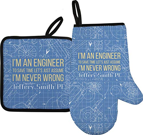 YouCustomizeIt Engineer Quotes Oven Mitt & Pot Holder (Personalized)