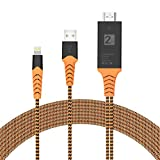 Ivendita 1900 Compatible with iPhone iPad to HDMI Adapter Cable, 1080P Digital AV
