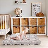Asojoy Knotted Floor Mat for Newborns Kids Children