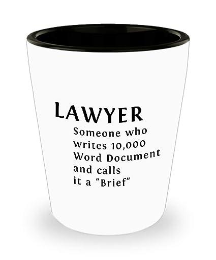 Amazoncom Best Attorney Shot Glass Lawyer Writes 10