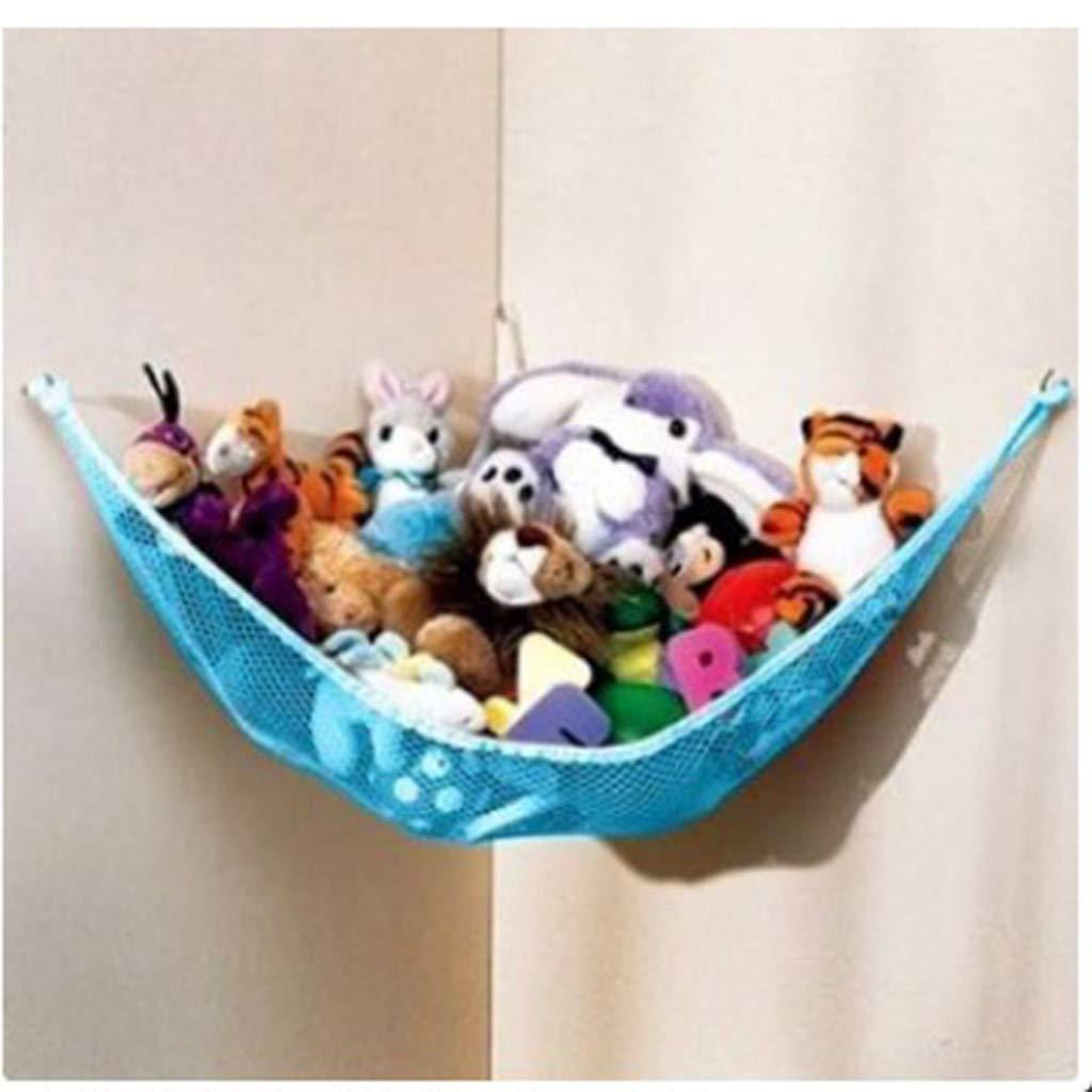 Pink, L YBWZH Storage Hammock for Stuffed Toy,Large Mesh Toys Holder Net Organiser Baby Bedroom Mesh Bag Storage Bag