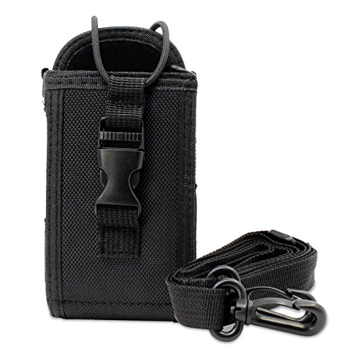 (abcGoodefg 3in1 Multi-Function Universal Pouch Bag Holster Case for for GPS PMR446 Motorola Kenwood Midland ICOM Yaesu Two Way Radio Transceiver Walkie Talkie (Black L))
