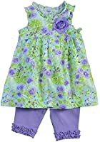 Little Me Baby Girls' Monet Rose Tunic And Capri Set