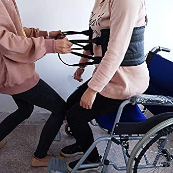 """Transfer Sling – Moving Assist Hoist Gait Belt Harness Device with Heavy Duty 400lb Weight Capacity, Padded Handles, Extended Length & Width - 8 x 47"""", ..."""