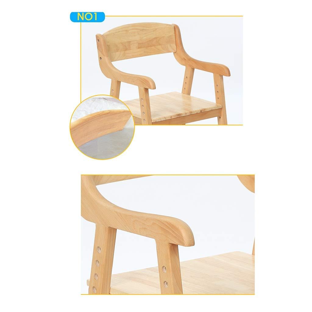 ZWJLIZI barn korrekt sittplats studiestol, justerbar brun bok matrumsstol, hemryggstöd datorstol (färg: C) E