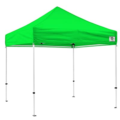 Impact Canopy 10' x 10' Pop-Up Canopy Tent, Powder-Coated Steel Frame, Straight Leg, Roller Bag, Lime Green : Garden & Outdoor