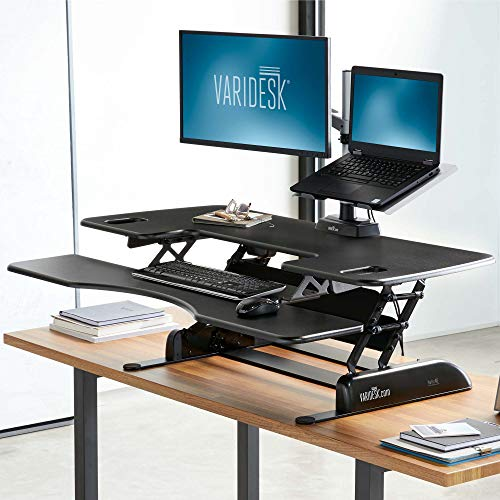 Adjustable Stand Up Desk >> VARIDESK – Height Adjustable Standing Desk – Pro Plus 48 – Stand Up Desk for Dual Monitors ...