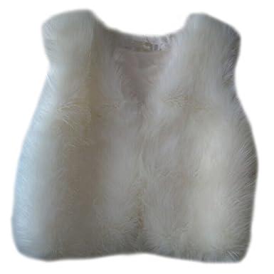 Faux Gilet Manches Manteau Fourrure Sans Long Veste Vest Outwear Femmes qVSUzpM