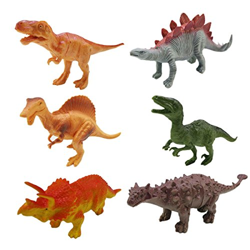 Dinosaur Toys,6 Pcs ZICA Assorted 6-7
