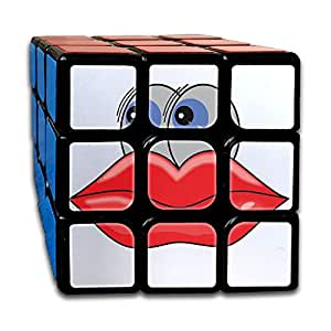 Cherry Park Big Lips And Eyes Cartoon Speed Rubik's Cube 3x3 Brain Training Match Puzzle Toy Magic Cube