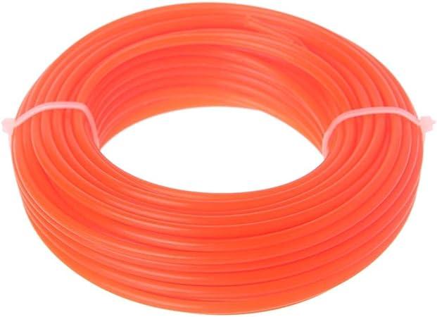 JOYKK 3mmx15M Nylon Trimmer Line Desbrozadora Strimmer Cuerda Cortadora de césped Cable - 3# Naranja: Amazon.es: Hogar