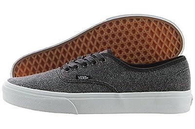 Vans Mens Authentic Core Classic Sneakers (38 M EU / 6 D(M) US, Tweed Black/White)
