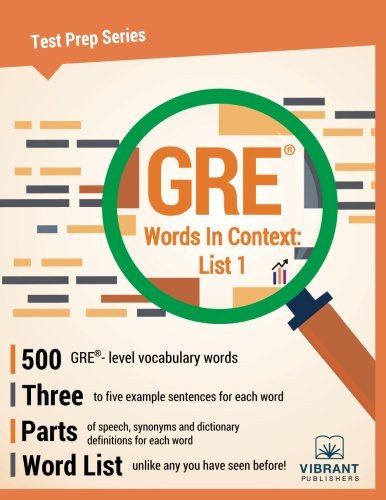 GRE Words In Context: List 1 (Test Prep Series) (Volume 13)